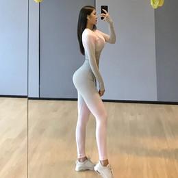 $enCountryForm.capitalKeyWord NZ - Women fashion yoga jogging pants rainbow colors high elastic waist slim leggings workout clothing new arrivals