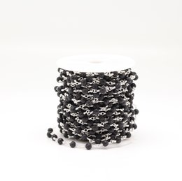 $enCountryForm.capitalKeyWord UK - Natural Black Lava Stone Wire Wrapped Beads Bracelets,Silver Plated Rosary Round Beads Chain Jewelry Crafts,4mm