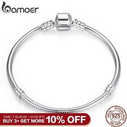 $enCountryForm.capitalKeyWord Australia - Bamoer Christmas Sale Authentic 100% 925 Sterling Silver Snake Chain Bangle & Bracelet For Women Luxury Jewelry 17-20cm Pas902 SH190713