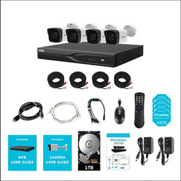 Wholesale 8 Channel DVR Security System with 4x Ultra HD 4K 8.3MP IP67 H.265 color night vision metal outdoor bullet cameras