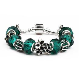$enCountryForm.capitalKeyWord Australia - Hot Sale Silver Charm Bracelets Women Designer Snake Chain Clear Emerald Beads Diamond Rabbit Fit Pandora Bangles Jewelry With Logo