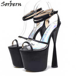 19cm high heels online shopping - Strange Style Women Sandals Slingbacks Ankle  Strap Platform Shoes Women 4adc866c7ab3