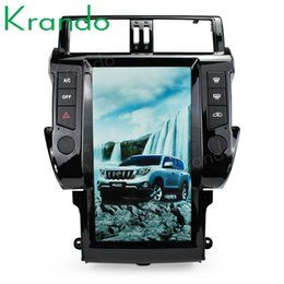 "car gps for toyota prado Australia - Krando Android 6.0 13.6"" style Vertical screen car multimedia player GPS for Toyota Prado 150 2010-2013 navigation radio player car dvd"