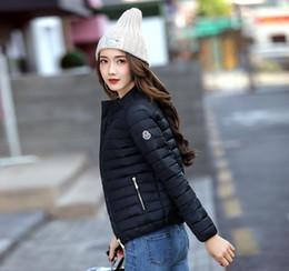 Groihandel 2018 Europa und Amerika Mode kurze Jacke Frauen Herbst und Winter dünner Licht Mantel Weibliche Baumwolle Padding plus Größe 3xl Mäntel