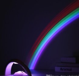 $enCountryForm.capitalKeyWord Australia - Free shipping NEW Arrival Lucky Rainbow Light Amazing Rainbow Projector 3D LED Lamp Baby Room Night Light Projector Home Decoration