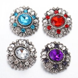 snap button cuff links NZ - 3pcs lot New Snap Jewelry Silver Flower Snap Button fit Metal 18mm Bracelet Leather Bracelet DIY Button Jewelry SB044