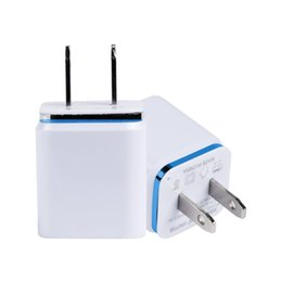 $enCountryForm.capitalKeyWord Australia - Dual USB Cell Mobile Phone Charger 5V2.1A 1A EU US Plug Wall Power Adapter for ipad iPhone Samsung HTC Cell Phones 2Ports