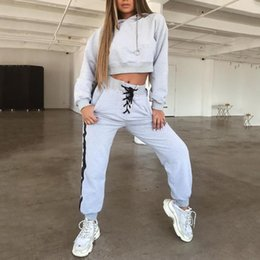 $enCountryForm.capitalKeyWord Australia - Running Suit Tracksuit For Women Racing Running 2 Two Piece Set Women Hoodies Crop Top Sweatshirt+Jogging Pants Suits #290203