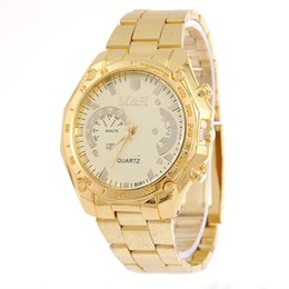 China Hot Fashion Mens Watch Gift Gold Stainless Steel Luxury Watches Quartz Wristwatches Clock Hours Relogio Masculino supplier clock hours fashion suppliers