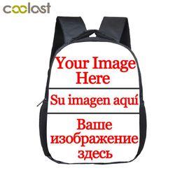 Customized Bags Australia - Customize Your Image Kindergarten Backpack Unicorn Girls Boys School Bag Kids Book Bag Narwhal Schoolbags Mochila Infantil