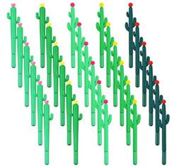 Cactus bille de gel encre noire cadeau Papeterie Stylos Rollerball bureau de l'école d'écriture stylo étudiants Prix enfants en Solde