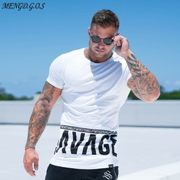 men gym clothes style NZ - men Summer style Fashion personality t Shirt Muscle male Leisure gyms Short sleeves Slim fit Tee tops clothing T200523