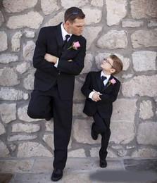 $enCountryForm.capitalKeyWord NZ - Black Custom Made Wedding Tuxedos Slim Fit Mens Suit Three Pieces Ring Bearer Groom Formal Flower Boy Suits(Jacket+Pants+Vest)