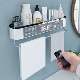 Ingrosso OneUp Parete Mensola Del Bagno Shampoo Doccia cosmetico Scaffale Rack di stoccaggio di drenaggio casa WC accessori per il Bagno Asciugamano Rack di stoccaggio