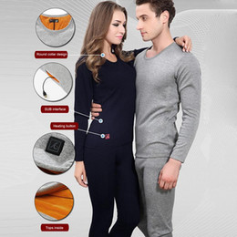 Heated Underwear Australia - Electric Heating Thermal Underwear Heating Blouse USB Intelligent Temperature Control Bottoming Shirt Electric Clothes