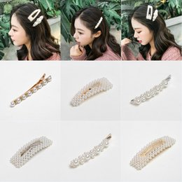$enCountryForm.capitalKeyWord NZ - 12 Styles Pearl Hair Clip For Women Bobby Pin Hairpins Barrettes Wedding Bridal Ornaments For Ladies Girls Hair Accessories Party Gift M047F