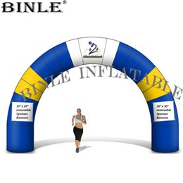 Wholesale Custom shape and design inflatable arch with rings for hanging banners inflatable race arch door promotion use