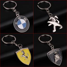 Bmw M6 Australia - 2 Pieces 3D Car Logo Keyring Keychain Auto Key Ring Key Chain Holder Keyfob For BMW Peugeot Lamborghini Ferrari Car Styling Accessories