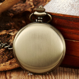 $enCountryForm.capitalKeyWord Australia - Full Stainless Steel Brushed Hand-winding Mechanical Pocket Watch Fob Chain Men Watches Clock for Laser Engraved without Battery
