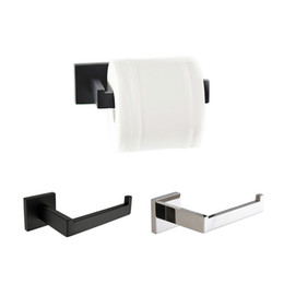 $enCountryForm.capitalKeyWord NZ - Black and chrome brief square toilet paper holder bathroom accessories stainless steel paper roll rack 2 surface styles choice
