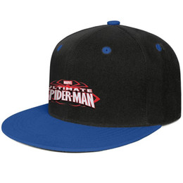 Ultimate Ball Australia - Ultimate SpiderMan logo white Blue mens and womens trucker flat brim cap design designer golf design your own vintage cute stylish personal