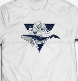 blue cotton men Australia - Mens Blue Whale Planet Triangle White Cotton 2019 Summer T-Shirts for Men T Shirt Hot Sale Clothes Custom T Shirts Online