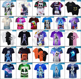 3d christmas shirts NZ - New DJ Marshmello T-shirts 26 styles Unisex DJ Marshmello Tops Steetwear 3D Digital Printed DJ Marshmello Tshirts Size from Kids to Adults