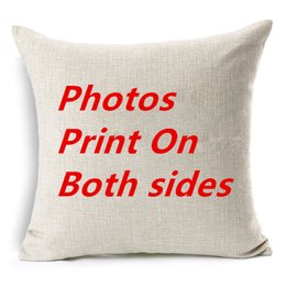 pictures personal Australia - Both sides Design Pictures on cushion cover Print Pet wedding personal Kids friend photos customized gift for home pillow case