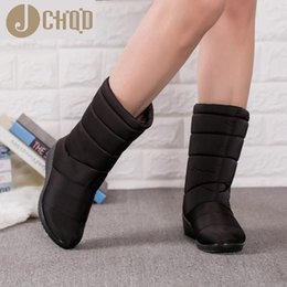 Snow boot inSoleS online shopping - JCHQD Winter Women Boots Mid Calf Down Boots Girls Winter Shoes Woman Plush Insole Botas Female Waterproof Ladies Snow Boots