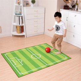 football games for kids Canada - 130*180CM Football Field Carpets For Living Room Children Bedroom Rugs And Carpets Nylon Cartoon Kids Play Game Mat Area Rug