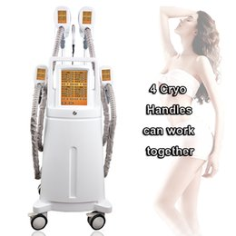Remove cellulite machine online shopping - 4 cryo handles cryolipolisis safety fat freezing cold body slimming machine cellulite fat remove cryotherapy device slimming vacuum machine