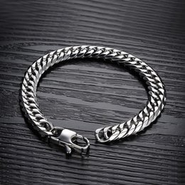 $enCountryForm.capitalKeyWord Canada - 2019 wholesale stainless steel men bracelet mens gift male cuban link chain on hand chain accessories bracelets hip hop style