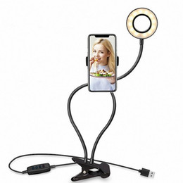 live streaming cameras NZ - Lighting Selfie Ring Light with Cell Phone Holder Stand for Live Stream Makeup LED Camera Lighting