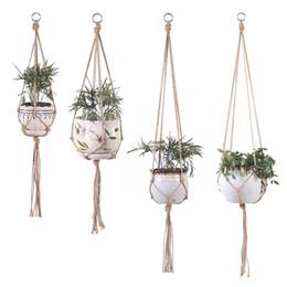 Wholesale Suspension Flowerpot Tuck Net Gardening Garden Decor Botany String Bag Hand Knitting Hot Selling With Height Length 2 6zy4 J1