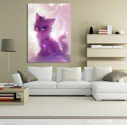 $enCountryForm.capitalKeyWord Australia - Spirit Cat Lovely Animal DIY 5D Diamond Stitch Round 3D Diamond Stitch Tools Kit Diamond Mosaic Room Decor Without Frame