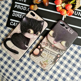 cute 3d cell phone cases UK - 3D Cute Cat Pattern Crashproof Frosted Soft Back Cover Silicone Cell Phone Case Protective Covers For iPhone X XR XS MAX 6 6S 7 8 PLUS
