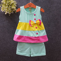 Baby Girl Summer Suits Australia - good quality Toddler Girls Clothing Sets Summer Baby Tracksuit Infant Clothes Outfit Sport For Girls 2pcs Sets Vest + Shorts Suit
