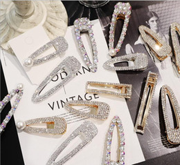 $enCountryForm.capitalKeyWord NZ - Fashion Girls Gold Silver Alloy Crystal Hair Clip Snap Barrette Hairpin Bobby Hair Accessories Hot Jewelry Gift