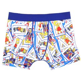 Wholesale Mixed Underwear Australia - S-XL carton white print yellow Mixed pers mens boxer sexy funny men underwear france style underpants for men 20 models support drop ship