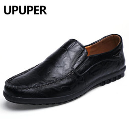 new driving shoes 2020 - New Men Shoes Loafers Warm Genuine Leather Shoes Men Moccasins Flats Casual Boat Driver Driving Zapatos De Hombre discou