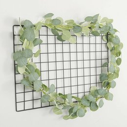 bulk vines UK - Artificial Eucalyptus Garland Faux Silk Vine Handmade Leaves Greenery 1.8M 5.9Ft Home Decoration Gardening Decoration Essential Oils Diffuse