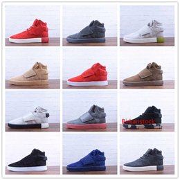 Discount tubular invader strap shoes New Winter Tubular Invader Strap Kanye West 750 Running Shoes for High quality 750s triple s Men Fashion Outdoors Sneake