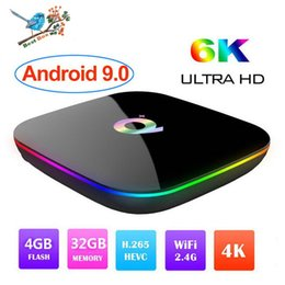 Mini Wifi 4g Australia - 1 PCS Android 9.0 TV Box 6K Ultral HD Streaming Media Player 4G 32G Quad Core Smart Mini PC 2.4G Wifi Q Plus Set Top Boxes USB 3.0 Q+