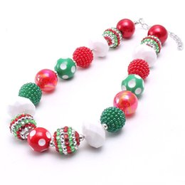 $enCountryForm.capitalKeyWord NZ - Newest Design Fashion Kid Chunky Necklace Jewelry Newest Christmas Gift Bubblegum Beads Chunky Necklace For Children Girls