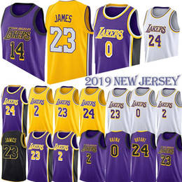 c0b2f2cfe Basketball Jerseys 23 LeBron James Los Angeles Jersey Laker Lonzo 2 Ball  Kyle 0 Kuzma 24 Kobe 14 Ingram 8 Bryant men