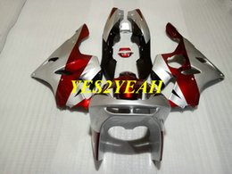 zx6r 94 95 96 97 NZ - Motorcycle Fairing body kit for KAWASAKI Ninja ZX6R 636 94 95 96 97 ZX 6R 1994 1997 Red silver Fairings bodywork+Gifts KS13