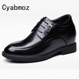 ac2b69702a Man Genuine Leather Height Elevator Wedding Shoes with Hidden Insert Get  Taller 10cm 3.9 Inches for Men Oxfords Casual Shoes shoe height inserts men  on sale