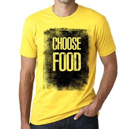 Vintage Womens Tees NZ - Men's Vintage Tee Shirt Graphic T shirt Choose FOOD Pale Yellow Custom t shirt logo text photo Mens Womens T-shirt men