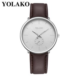 Men White Stainless Watch NZ - YOLAKO White Business Watch High Quality Leather Quartz watch 2019 dropshipping men stainless steel men Dress F091