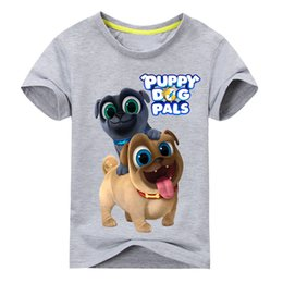 top dog clothing NZ - Summer Cartoon Puppy Dog Pals Print Tee Tops For Boy Girls Clothing Children White 3d Funny T-shirt Kids T Shirt Clothes Dx043 J190427